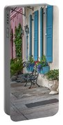 Strolling Down Rainbow Row Portable Battery Charger