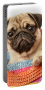Stuck Pug Portable Battery Charger by Greg Cuddiford