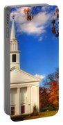 Sturbridge Church In Autumn Portable Battery Charger