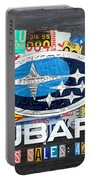 Subaru License Plate Map Sales Celebration Limited Edition 2013 Art Portable Battery Charger
