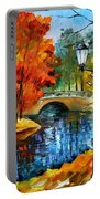 Sublime Park - Palette Knife Oil Painting On Canvas By Leonid Afremov Portable Battery Charger