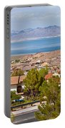 Suburbs And Lake Mead With Surrounding Portable Battery Charger