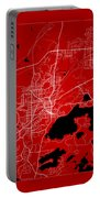 Sudbury Street Map - Sudbury Canada Road Map Art On Color Portable Battery Charger