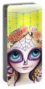 Sugar Skull Princess Portable Battery Charger