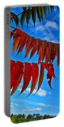 Sumac Red Portable Battery Charger