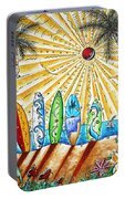 Summer Break By Madart Portable Battery Charger