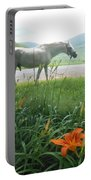 Summer Day Memories With The Paso Fino Stallion Portable Battery Charger by Patricia Keller