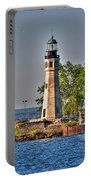 Summer Day View Of The Lighthouse  Portable Battery Charger