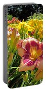 Summer Daylilies Portable Battery Charger