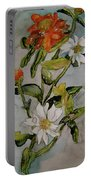 Summer Floral Portable Battery Charger