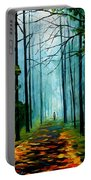 Summer Forest - Palette Knife Oil Painting On Canvas By Leonid Afremov Portable Battery Charger