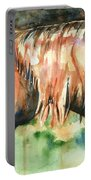 Horse Painting In Watercolor Summer Horse Portable Battery Charger