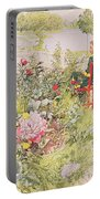 Summer In Sundborn Portable Battery Charger by Carl Larsson