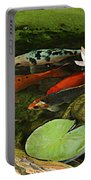 Summer Koi And Lilly Portable Battery Charger