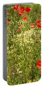Summer Meadow Background Portable Battery Charger