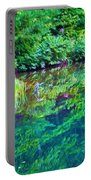 Summer Monet Reflections Portable Battery Charger
