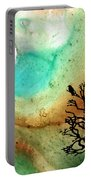 Summer Moon - Landscape Art By Sharon Cummings Portable Battery Charger by Sharon Cummings
