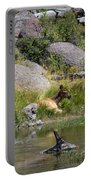 Summer Morning Dip - Elk In Yellowstone National Park - Wyoming Portable Battery Charger