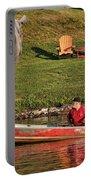 Summer Morning On Muskoka River Portable Battery Charger