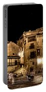 Summer Night In Albarracin Spain Portable Battery Charger