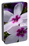 Summer Phlox Portable Battery Charger