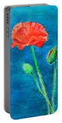 Summer Poppy Portable Battery Charger