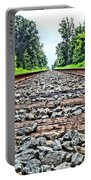 Summer Railroad Tracks Portable Battery Charger