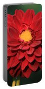 Fiery Red Dahlia Portable Battery Charger