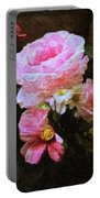Summer Roses Portable Battery Charger