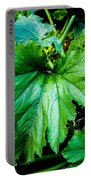 Summer Squash Leaves Portable Battery Charger