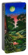 Summer Twilight In The Forest Portable Battery Charger