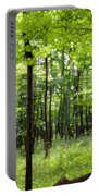 Summer's Green Forest Abstract Portable Battery Charger