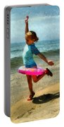 Summertime Girl Portable Battery Charger