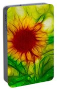 Sun And A Flower Portable Battery Charger