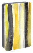 Sun And Shadows- Abstract Painting Portable Battery Charger