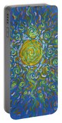 Sun Burst Of Squiggles Portable Battery Charger