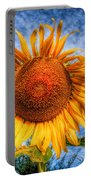 Sun Flower Portable Battery Charger by Adrian Evans