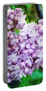 Sun Lit Lilac The Sweet Sign Of Spring Portable Battery Charger
