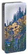 Sun Notch On A Rainy Day At Crater Lake National Park-oregon Portable Battery Charger
