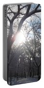 Sun Over The Park Portable Battery Charger