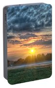 Sun Rays Vs Rain Clouds Portable Battery Charger