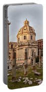 Sun Setting On Trajans Column Rome Portable Battery Charger