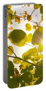 Sun Shining Through Leaves Portable Battery Charger
