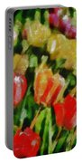 Sunbathing Tulips Portable Battery Charger