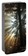 Sunbeams Through Trees Portable Battery Charger