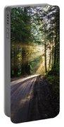 Sunburst At Redwood National Park Portable Battery Charger