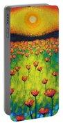 Sunburst Poppies Portable Battery Charger