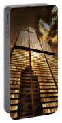 Sundown At Willis Sears Tower Portable Battery Charger
