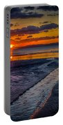 Sundown On Prestwick Beach Portable Battery Charger