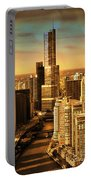 Sundown On Trump Tower Portable Battery Charger